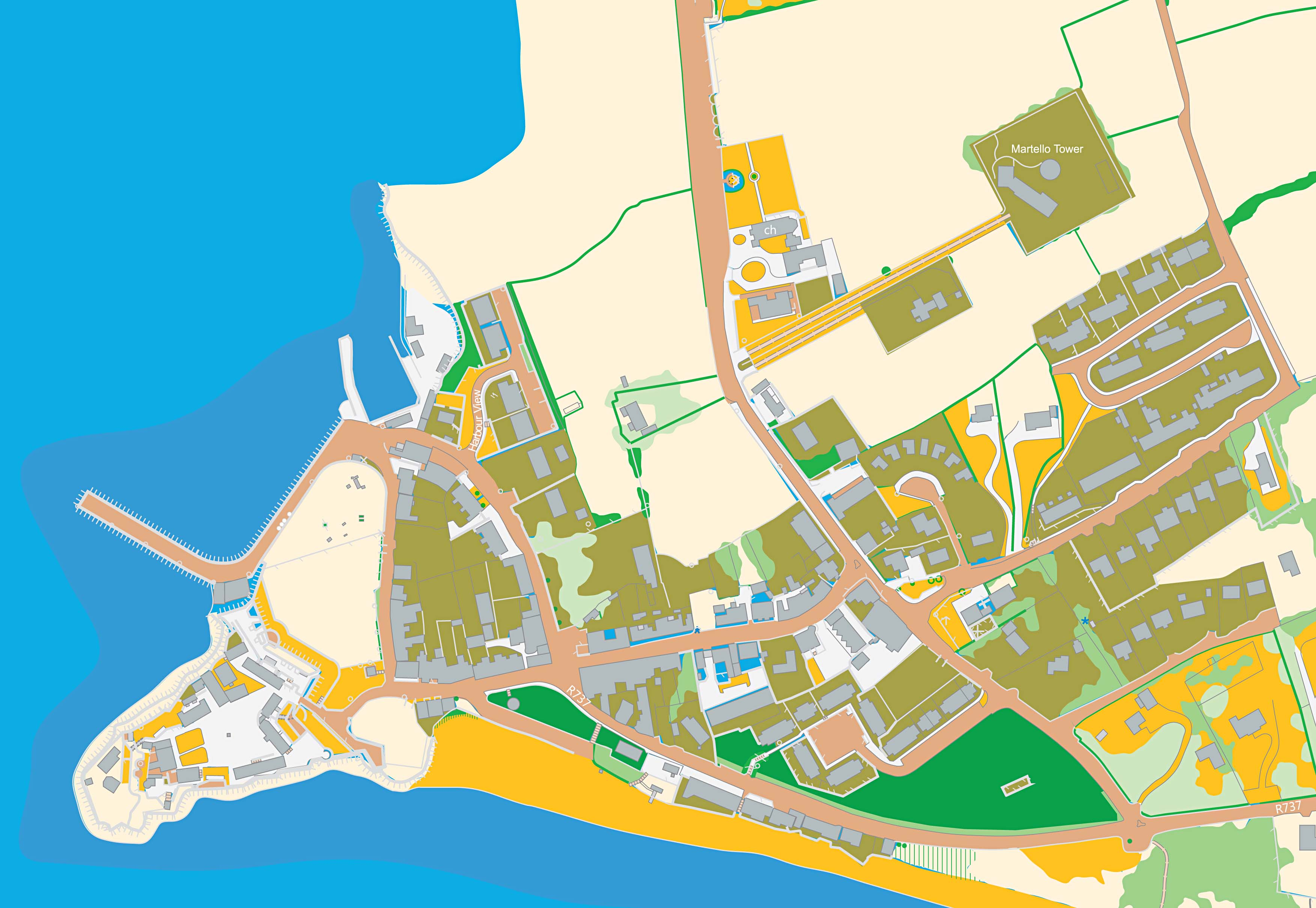 Duncannon Co. Wexford map by The Design Nut