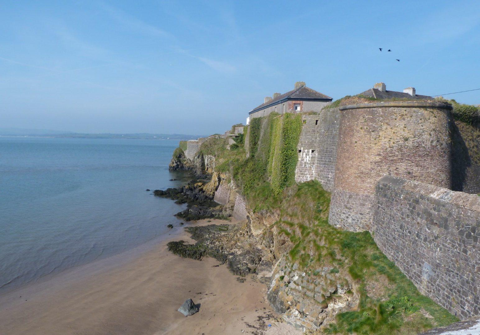Duncannon Fort overlooking Duncannon Beach, Wexford