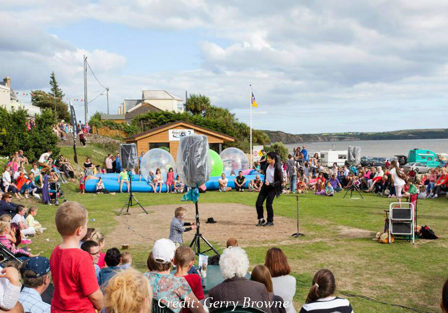 Entertainment at Sandsculpting Festival, Duncannon Co Wexford