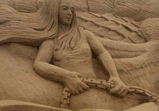 Sand Sculptures at Duncannon Sandsculpting Festival, Duncannon Wexford