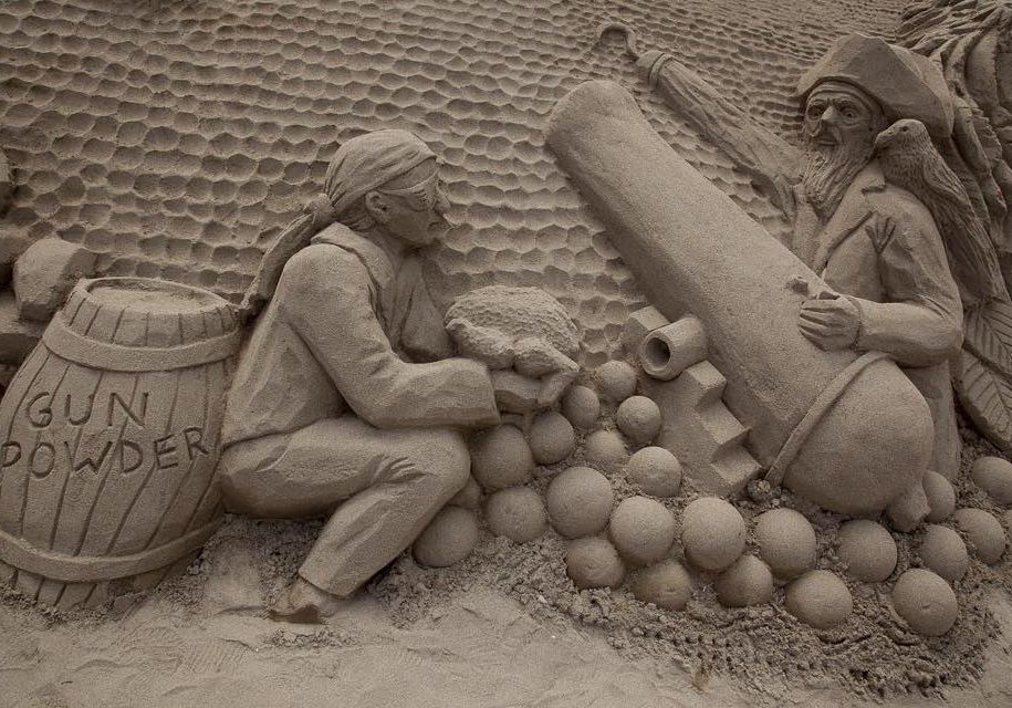 Sand Sculptures at Duncannon Sandsculpting Festival, Wexford
